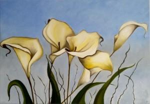 Elly bloemen wit klein
